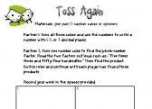 Toss Again-FREE Multiplying Decimal Game