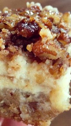 Pecan Cheesecake Squares Recipe