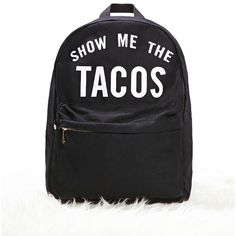 Forever21 Show Me The Tacos Backpack (595 MXN) ❤ liked on Polyvore featuring bags, backpacks, woven backpack, backpack bags, top handle bags, forever 21 bags and knapsack bag