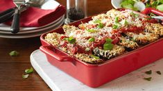 Baked Eggplant Parmesan Olives, Mayonnaise, Cocovan Recipe, Recipe Ideas, Baked Eggplant Slices, Hellmans Recipes, Eggplant Parmesan, Meals For The Week, Food Preparation
