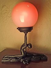 SARSAPARILLA FRANKART ART DECO NUDE FIGURE FEMALE LIGHT LAMP VINTAGE ANTIQUE USA