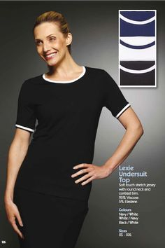 Lexie Undersuit Top,full brochure can be downloaded here http://www.workuniformsdirect.com/businesswear  #workuniformsdirect #uniform #corporate #business #fashion