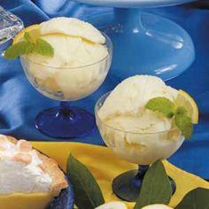 Frozen Lemon Yogurt - swapping the sugar for sweetener would make a nice Slimming World recipe