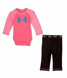 Under Armour Newborn RaglanSleeve Bodysuit and Pant Set #Dillards