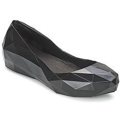 dd8484f1e3b0 Geometric Shoes - black ballerina flats with faceted design  innovative  footwear    United Nude