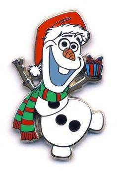 2014 Olaf in Santa Hat Disney Movies, Disney Pixar, Walt Disney, Disney Characters, Christmas Yard Art, Mickey Christmas, Olaf Frozen, Disney Frozen, Disney Pins For Sale