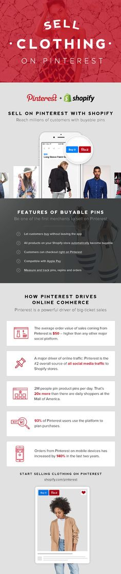 Create your Shopify online store and sell women's fashions directly on Pinterest. Get started today with a 14-day free trial.