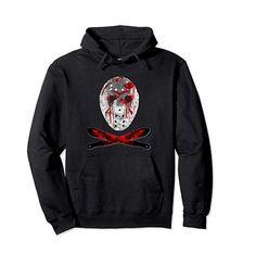 Friday 13th Pullover Hoodie #horrormovie #friday13th #jason #mask #blood #machete #horrorfans #valentines #valentinesdaygift #birthdaygift #amazon  #clothing #funnyshirt