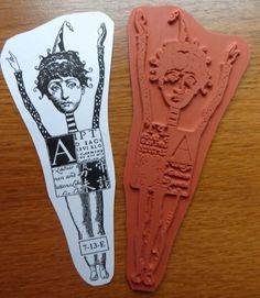 RARE! Teesha Moore Zettiology Unmounted Rubber Stamp GIRL W POINTY HAT & CURLS