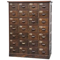 1920s Industrial Multi-Drawer Cabinet | See more antique and modern Cabinets at http://www.1stdibs.com/furniture/storage-case-pieces/cabinets
