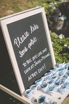 #signs  Photography: Coralee Estelle - www.coraleeandalex.com  Read More: http://www.stylemepretty.com/2014/06/06/elegant-garden-affair-in-new-zealand-a-tear-worthy-toast-on-film/