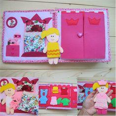 Viajes Dollhouse con tela de fieltro muñeca de por GanniQuietBooks