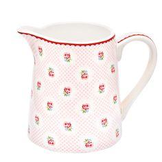 GreenGate Krug Tammie Pale Pink, klein Einfach nur traumhaft! Der nostalgische Krug eignet sich nicht nur als Wasserspender, sondern auch für Saft oder Milch. Ebenso als dekorative Blumenvase ein echter Blickfang auf Deinem Küchentisch. In verschiedenen Mustern erhältlich.