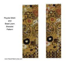 DIY Bracelet Pattern Klimt 5 Peyote Stitch and por PalacePatterns