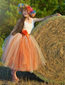 burnt orange junior bridesmaid dress, the perfect gown for fall weddings