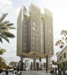 """designed by Mikou Design Studio in Brazzaville,Congo (Republic of the Congo) . Images by Mikou Studio. Mikou Design Studio has unveiled plans for the Africanews headquarters in Congo. Designed to """"present a powerful visu. Architecture Panel, Architecture Portfolio, Architecture Details, Modern Architecture, Drawing Architecture, Congo, Architectural Section, Architectural Drawings, Architectural Styles"""
