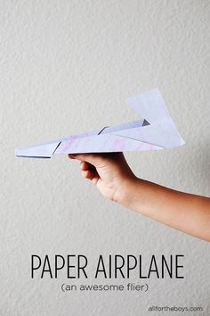 Since J is always telling me how badly my paper planes suck! :-) Try this one next time!