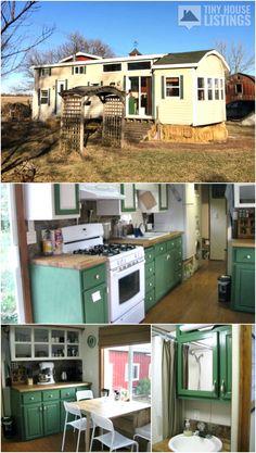 Tiny House Listings: Tiny Houses For Sale and Rent Tiny Houses For Sale, Tiny House On Wheels, Mini Houses, Mini Split Ac, Counter Depth, Tiny House Listings, Composting Toilet, Range Hoods, Home