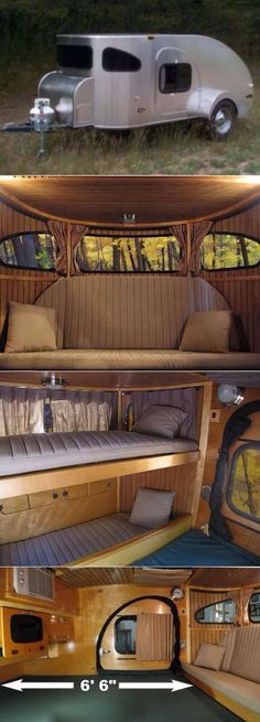 Very modern teardrop camper. Super nice!