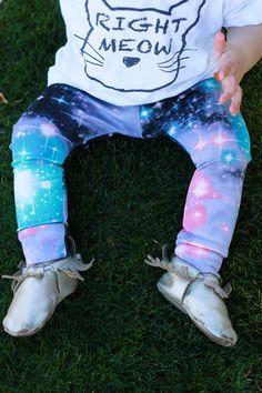 Handmade Galaxy Print Baby Leggings for Girls Leggin Pants Infant Toddler Trouser NB 3m 6m 12m 18m 2T 3T 4T 5T