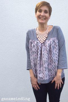 Yoke Blouse von Salme sewing patterns, genäht von ganzmeinding