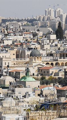 Old City Of Jerusalem, Israel. The Old City is a 0.35 square mile walled area within the modern city of Jerusalem. Until 1860, when the Jewish neighborhood Mishkenot Sha'ananim was established, this area constituted the entire city of Jerusalem. (V)