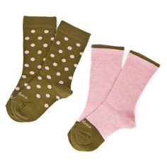 polka dots pink + olive green