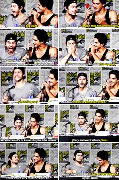 Tyler Hoechlin Calling During The Teen Wolf Panel at Comic-Con !