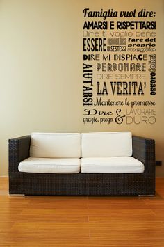 Italian wall art, for my Italian side :) Love it! Family Rules, Home Staging, Bedroom Wall, Home Organization, My Dream Home, Your Space, Home And Living, Wall Stickers, Sweet Home