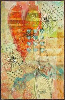 Terri Stegmiller art quilt    I simply love Terri's work.  She is a master of soft illusions.