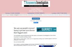 Private Investigator, Local News, Surrey, Investigations, Novels, Advertising, Website, Study, Fiction
