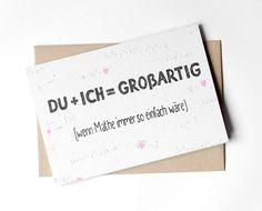 Valentinstag - Klappkarte - Du und Ich - ein Designerstück von lumilarie bei DaWanda