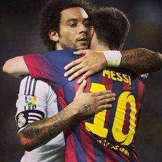 Messi and Marcelo  FC Barcelona vs Real Madrid