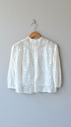 Embroidered Batiste Dot blouse vintage Edwardian by DearGolden