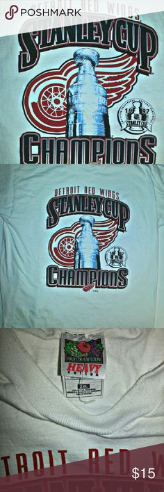 de1eee617 Detroit Red Wings 1997 Stanley cup shirt Washed once but never worn 100  Cotton washable