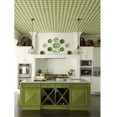 Mutfağınızın tavanını duvar kağıtları ile renklendirebilirsiniz...  #renkyol #insaat #mutfak #kitchen #oneri #dekorasyon