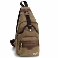 Special price AERLIS Fashion Leisure Men Bags Casual Canvas Leather Single Shoulder Bag Rucksack Sling Daypack Waist Pack Bag A302 just only $13.68 with free shipping worldwide  #backpacksformen Plese click on picture to see our special price for you