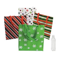 Large Basic Christmas Totes - OrientalTrading.com