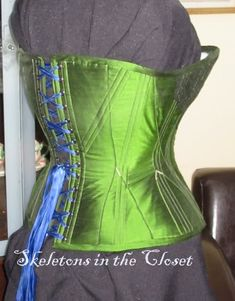 1891 Corset.: corsetmakers Green Corset, Chantilly Lace, Green Silk, News Design, Really Cool Stuff, Eye Candy, Take That, Tops, Women