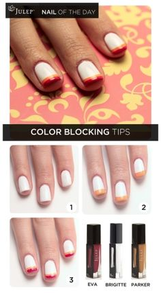 Nail of the Day: Color Blocking Tips by valeria