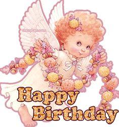 Happy Birthday angelito vestido de rosa