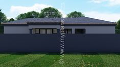 3 Bedroom House Plan MLB 008.1S - My Building Plans South Africa Split Level House Plans, Square House Plans, Metal House Plans, My House Plans, Bedroom House Plans, My Building, Building Plans, House Plans South Africa, Guest Toilet