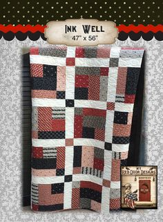 Ink Well Quilt Kit by myreddoordesigns on Etsy