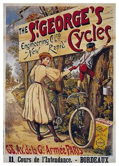 'old retro vintage Bicycle poster' Poster by Khokhloma Velo Vintage, Vintage Cycles, Vintage Bikes, Vintage Ads, Vintage Images, Old Posters, Posters Vintage, Old Bicycle, Bicycle Art