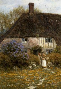 A Kentish Cottage - Helen Allingham Prints - Easyart.com