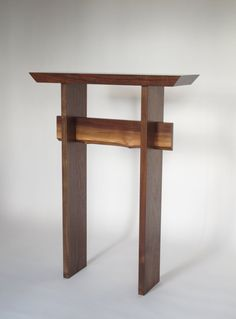live edge statement table in walnut entry table narrow console table tall hall table side table minimalist handmade wood furniture