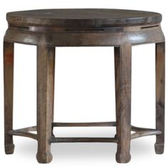 This beautiful table from Beijing is made from solid walnut and is over 200 years old. The legs are supported at the base with rounded stretchers, and the mitred joints at the top of each leg are visible, a good example of the accurate and complex joinery that has been used in the production of Chinese furniture over centuries.The once dark lacquer finish has worn to leave a beautiful patina. A very unique piece that would grace any modern home.