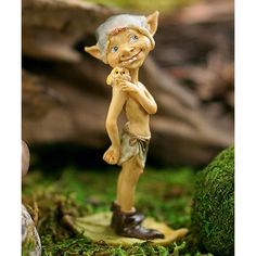 Top Collection Garden Pixie Figurine (£6.53) ❤ liked on Polyvore featuring home, outdoors and outdoor decor