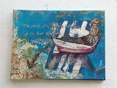 "canvas mixed media - collage ""freedom""  #Greek_flag #painting_with_mixed_media #the_secret_of_happiness_is_freedom  #kardias_xirokamomata Greek Flag, Flag Painting, Mixed Media Collage, Freedom, Happiness, Canvas, Artwork, Liberty, Tela"