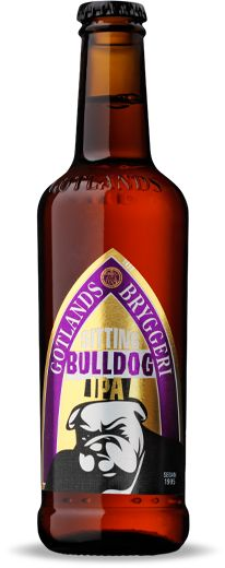 Sitting Bulldog IPA by Gotlands Brewery, Sweden
